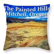 Painted Hills 01 Throw Pillow