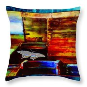 Painted Shadows Of A Different Love And Time Throw Pillow
