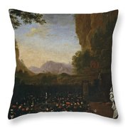 Paisaje Con San Bruno   Throw Pillow
