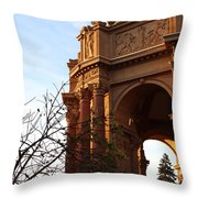Palace Of Fine Arts At Sunset Throw Pillow