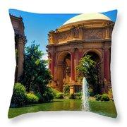 Palace Of Fine Arts Lagoon Throw Pillow