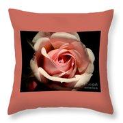 Pale Pink Rose Throw Pillow