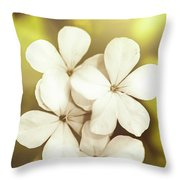 Pale Wildflowers Throw Pillow