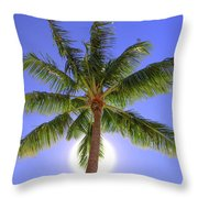 Palm Tree Sun Throw Pillow by Patti Deters