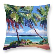Palms At The Island's End Throw Pillow