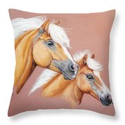 Palomino Pair Throw Pillow