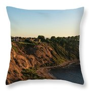 Palos Verdes Sundown Throw Pillow by Michael Hope
