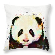 Panda Watercolor Throw Pillow