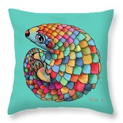 Pangolin Throw Pillow