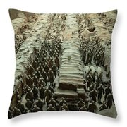 Panorama Of Pit 1, Terra Cotta Warriors Throw Pillow