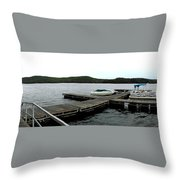 Panorama Of Schroon Lake In The Adirondack Mountains In New York Throw Pillow by Rose Santuci-Sofranko