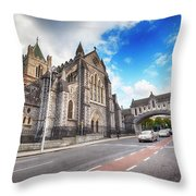 panorama of The Cathedral of Dublin Throw Pillow by Ariadna De Raadt