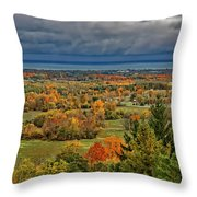 Panoramic Autumn View Throw Pillow
