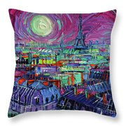 Paris By Moonlight Throw Pillow