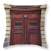 Paris Door Throw Pillow