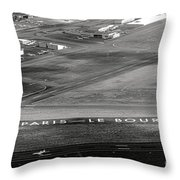 Paris Le Bourget Throw Pillow