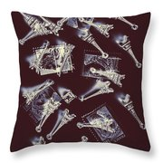 Paris Post Throw Pillow