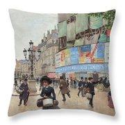 Paris, Rue Du Havre Circa 1882 Throw Pillow