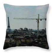 Paris Towers Throw Pillow by Juan Contreras