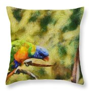 Parrot Paradise Throw Pillow