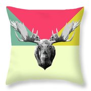 Party Moose Throw Pillow