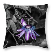 Passion Flower Only Alt Throw Pillow