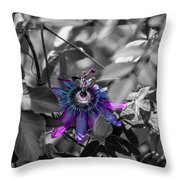 Passion Flower Only Throw Pillow