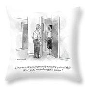 Password Protected Wi-fi Throw Pillow
