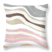 Pastel Waves 2- Art By Linda Woods Throw Pillow