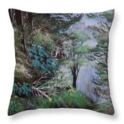 Path Thru The Woods Throw Pillow