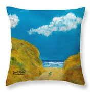 Path To The Ocean Throw Pillow