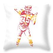 1d6c9a887ae Patrick Mahomes Kansas City Chiefs Apparel T Shirt Pixel Art 2 Throw Pillow
