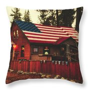 Patriotic Bar And Grill Throw Pillow