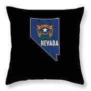 Patriotic Nevadan Nevada Flag Nationalism Usa America Throw Pillow