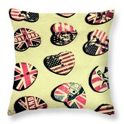 Patriotic Picks Throw Pillow