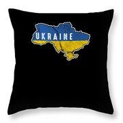 Patriotic Ukraine Flag Ukrainian Nationalism Throw Pillow