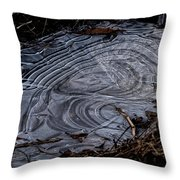 Patterns In Ice Throw Pillow