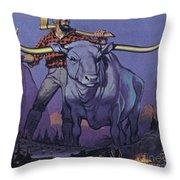 Paul Bunyan And Babe  Throw Pillow