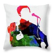 Paul Mccartney Watercolor Throw Pillow