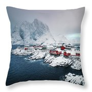 Peace Of Winter Throw Pillow