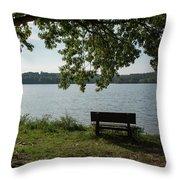 Peaceful Bench Throw Pillow