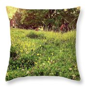 Peaceful Pastoral Perspective Throw Pillow by Carol Whaley Addassi