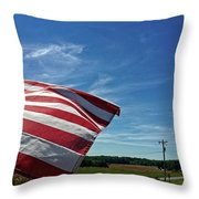 Peaceful Summer Day Throw Pillow by Carol Whaley Addassi