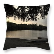 Peaceful Sunset At The Park Throw Pillow