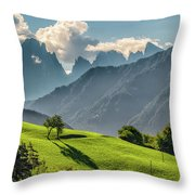 Peak And Meadow Throw Pillow by James Billings