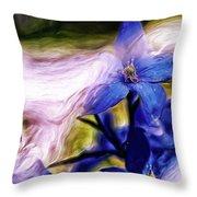 Peek A Blue Throw Pillow