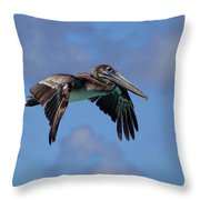 Pelican Flight Throw Pillow