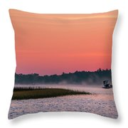 Pelican Mist Throw Pillow by Patti Deters