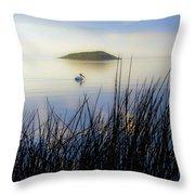 Pelican On Klamath Lake Throw Pillow