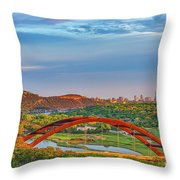 Pennybacker Bridge Throw Pillow